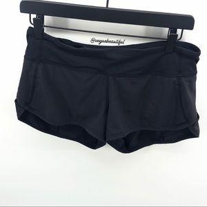 Lululemon Black Speed Shorts